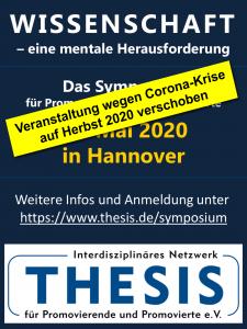 Veranstaltungshinweis: Symposium des Thesis e. V.